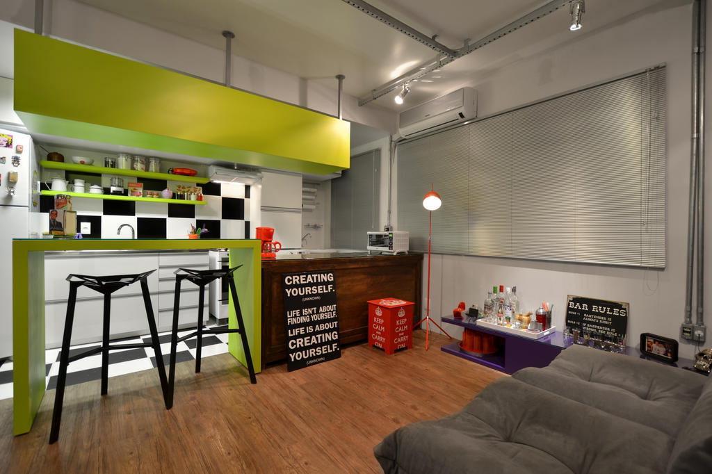 decoracao de apartamentos pequenos de baixo custo: era claro: um espaço despojado, amplo e pronto para receber amigos